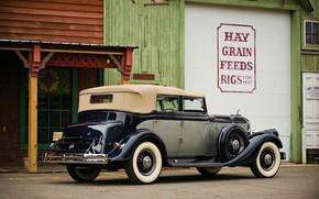 Машины: 1933, pierce-arrow, twelve convertible sedan, cars, vintage, двенадцать Кабриолет Седан, автомобили, старинные