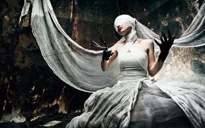 Разное: страх, ножницы, нить, ткань
