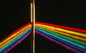 Макро: игла, нить, цвет, спектр