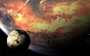 Космос: планета, спутник, метеориты, камни