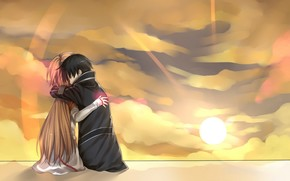 картинки аниме девушки с длинными волосами