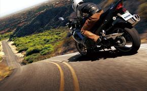 Мотоциклы: мотоцикл, suzuki, велосипед, дорога, горы, люди, асфальт, motorcycle, motorbike, bike, road, hill, men, asphalt,