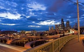 Город: города, ночь, дорога