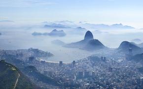 Пейзажи: Рио-де-Жанейро, город, дымка