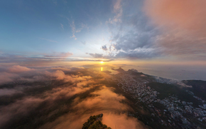 Природа: Рио-де-Жанейро, город, Солнце, восход
