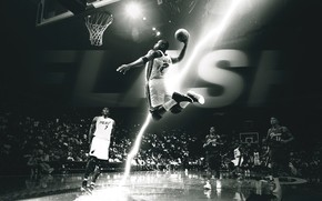 Спорт: Баскетбол, Игрок, Игра, Полу, Зависание, Полет, Черно Белое