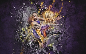 Спорт: Игрок, Баскетбол, Рисунок, Мяч, Фиолетовый