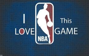 Спорт: Баскетбол, Логотип, Фон, Синий, Стена