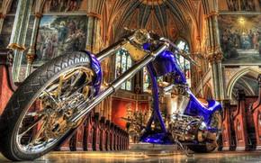 Мотоциклы: мотоцикл, тюнинг, церковь, Мотоциклы