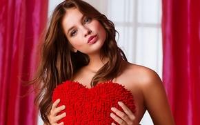 ����������: barbara palvin, top model, budapest, hungary, blonde, blue eyes, victorias secret, valentines day 2013