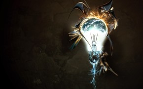 Рендеринг: лампа, фантазия, цвет