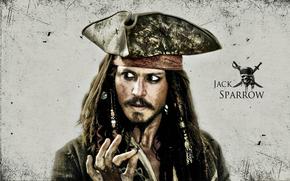 Кинозвезды: джек воробей, Джонни Депп (johnny depp), пират