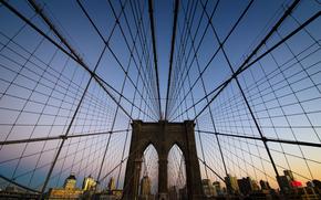 Город: Бруклинский мост, ШтатНью-Йорк, США, Нью-Йорк