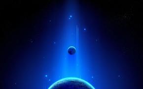 Космос: планета, космос, свет