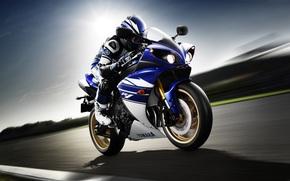 Мотоциклы: скорость, ямаха, мотоциклист, Мотоциклы, спортивный мотоцикл