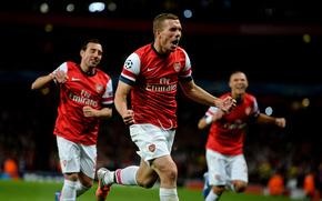 Спорт: Футбол, Лукас Подольски, Эмирейтс, Лига Чемпионов, Англия, Арсенал