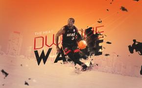 Спорт: Dwyane Wade, Дуэйн Уэйд, Miami, Heat, Майами, Хит, Спорт, Баскетбол, NBA, Игрок