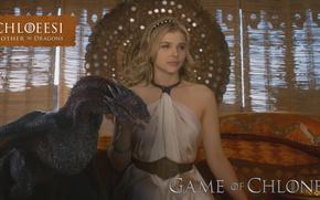 ����������: Chloe Moretz, Game of Thrones, blond of dragon