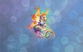 Обои Минимализм: фон, дракончик, аниме