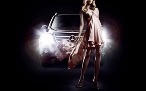 Кинозвезды: Eva Padberg, Mercedes-benz, GLK, fashion