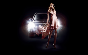 Кинозвезды: Eva Padberg, Mercedes-benz, GLK, fashion