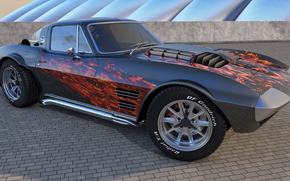 Машины: 1964 Chevrolet Corvette Grand Sport, машина, авто