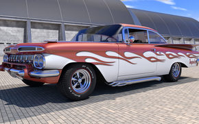 Машины: 1959 Chevrolet Impala, машина, авто
