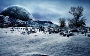 Космос: зима, планета, природа