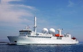 Корабли: DUPUY DE LOME, необычное судно, вмс франции, научно-исследовательское судно