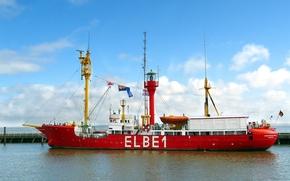 Корабли: Судно, маяк, Elbe 1