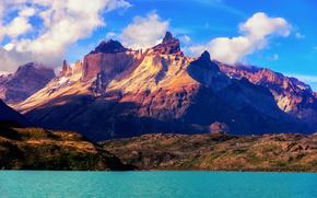 Пейзажи: чили, южная америка, горы, река, пейзаж