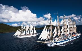 Корабли: Star Flyer, Royal Clipper, sailing, ships, парусники
