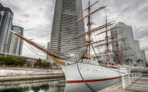 Корабли: Nippon Maru, sailing ship, Yokohama-shi, Kanagawa Prefecture, Japan