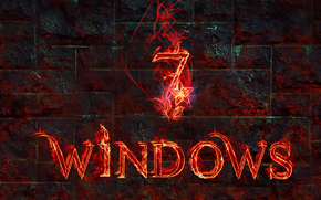 Hi-tech: windows 7, 3d, wallpaper