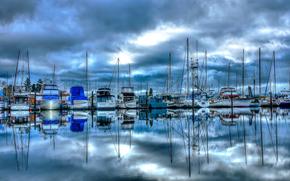 Корабли: Port of Poulsbo Marina, Washington, лодки, парусники, яхты