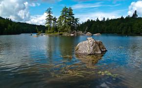 Пейзажи: Saranac Lake, Саранак Лейк, Штат Нью-Йорк