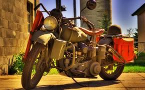 Мотоциклы: времён, мотоцикл, шлем, Мотоциклы, модель, Второй, военный, войны, мировой