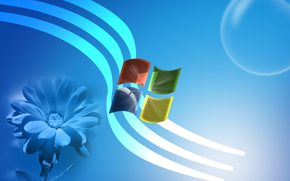 Hi-tech: windows, wallpaper, 3d