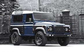 Машины: внедорожник, Land Rover, джип, Дефендер, передок, Ленд Ровер