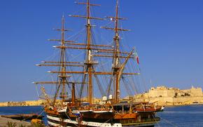 Корабли: Итальянский военно-морской учебный корабль, великолепный парусник