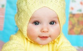Обои Настроения: дети, счастливые, маленькая девочка, ребенок, милые, голубые глаза, красивая, Девочка, девочка, детство, красивые