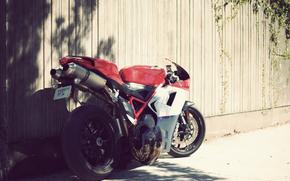 Мотоциклы: Ducati 1098, триколор, солнце, день, Спотртбайк