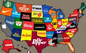 Разное: бренд, Карта, америка