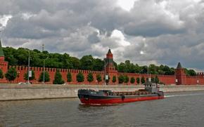 Корабли: Корабли, корабль, баржа, судно, река, СССР, Москва, сухогруз