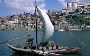 Корабли: Корабль, парусник.яхта, судно, корабли, Венеция, гандола, город, море