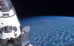 Космос: космос, планета, планеты, Земля, атмосфера, облака, небо, полёт, шатл