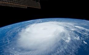 Космос: космос, планета, планеты, Земля, атмосфера, облака, небо, шторм, ураган, цыклон