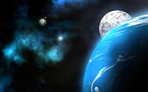 Космос: Космос, планета, планеты, Нептун, небо, звёзды