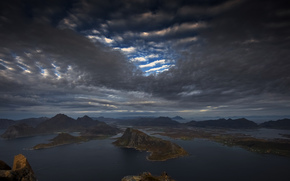 Пейзажи: Норвегия, Лофотенские, острова, море, Норвежское, восточная часть