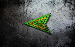 Текстуры: текстура, фон, царапины, центр, металл, боевой., зеленая стрела, изумрудный, наконечник, стальной